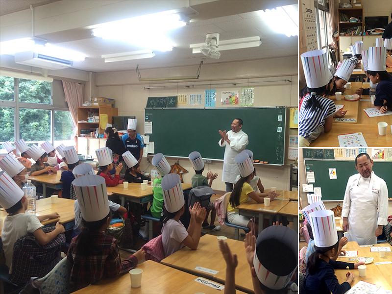 味覚の教育活動「味覚の一週間」に当社の総料理長が講師として小学校に訪問しました。